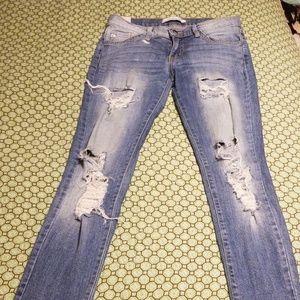 Kancan skinny jeans distressed
